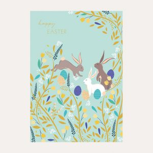 Sara Miller Easter Bunnies Card