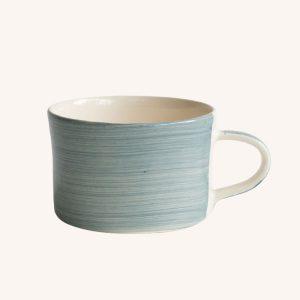 Handmade Mug Dove Grey Plain Wash