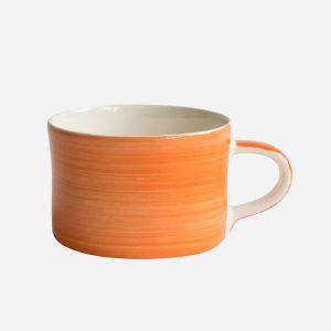 Handmade Mug Tangerine Plain Wash