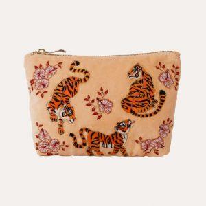 Tiger Make Up Bag Apricot