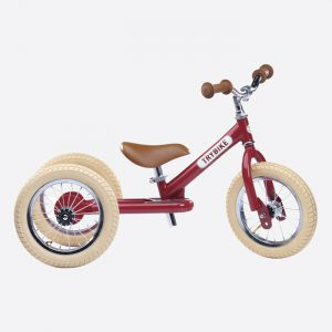 Steel 2 in 1 Balance Bike/Trike Vintage Red