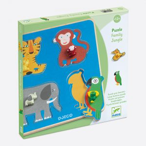 Family Jungle Large Buttons Puzzle