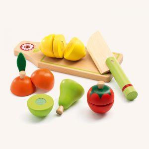 Fruit and Vegetables Wooden Kitchen Set