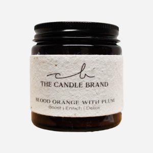 Blood Orange & Plum Burn + Bloom Candle