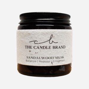 Sandalwood Musk Burn + Bloom Candle