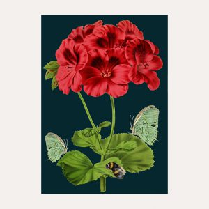 Bee & Green Butterfly Card