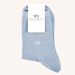 Glitter Socks Pastel Blue