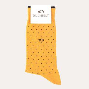 Square Cotton Socks Mustard