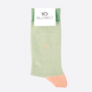 Stripe Cotton Socks Pistachio