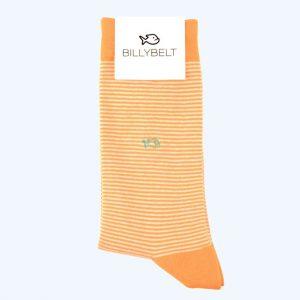 Stripe Cotton Socks Orange
