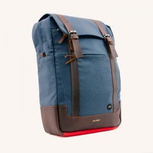 Rectangular Navy Blue Backpack