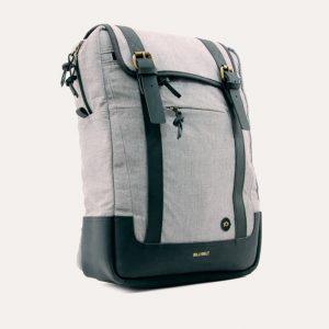 Rectangular Mottled Grey Backpack
