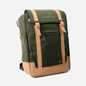 Waterproof Rectangular Khaki Backpack