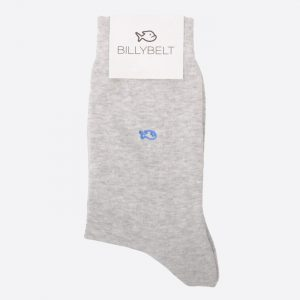 Plain Cotton Socks Mottled Grey