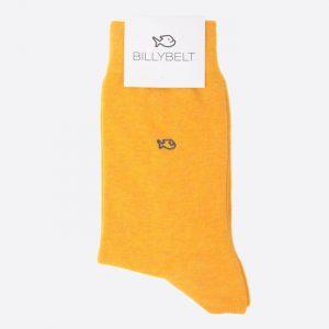 Plain Cotton Socks Mottled Mustard