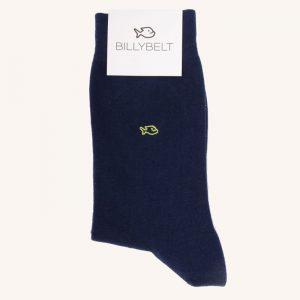 Plain Cotton Socks Cobalt Blue