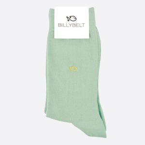 Plain Cotton Socks Green Water