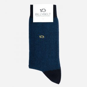 Herringbone Cotton Socks Duck Blue