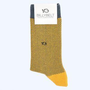 Herringbone Cotton Socks Yellow