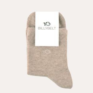 Mottled Cotton Socks Natural Beige
