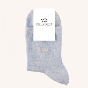 Mottled Cotton Socks Pastel Blue