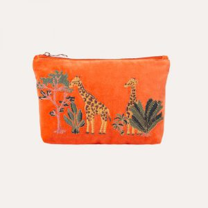 Giraffe Make Up Bag Orange