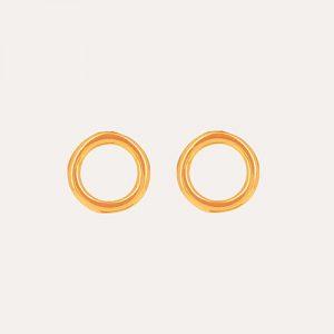 Infinity Circle Earrings Gold
