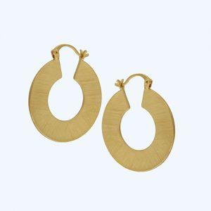 Theia Flat Hoop Earrings Gold