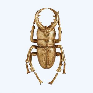 Gold Wall Decor Beetle Large