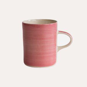 Handmade Demi Mug Rose Plain Wash