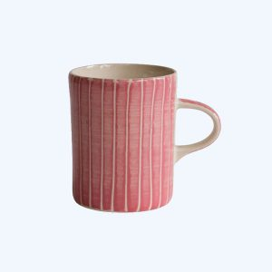 Handmade Demi Mug Rose Sgraffito