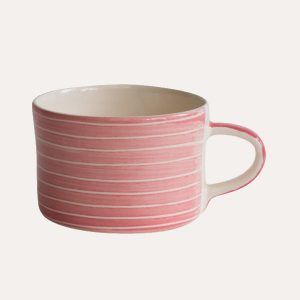 Handmade Mug Rose Sgraffito