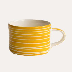 Handmade Mug Turmeric Sgraffito