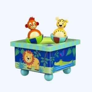 Jungle Animals Music Box
