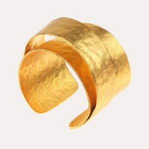 Layer Cuff Bangle Gold