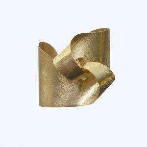 Curve Wrap Cuff Bangle Gold