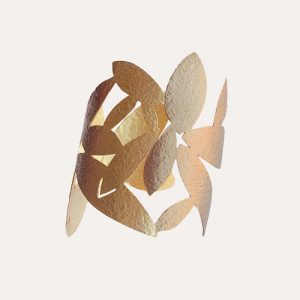 Cut Out Leaves Cuff Bangle Gold