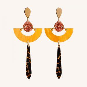 Daphnes Earrings Orange Pearl