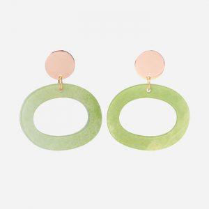 Ohs Earrings Jade Stone