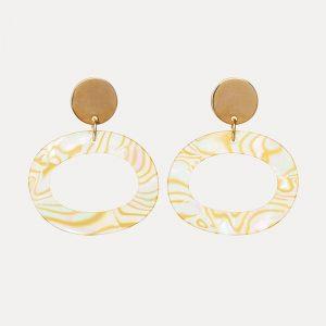 Ohs Earrings Abalone Shell