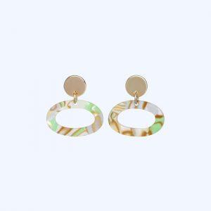 Ovals Earrings Abalone Shell