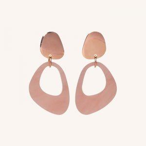 Pebble Drops Earrings Antique Rose