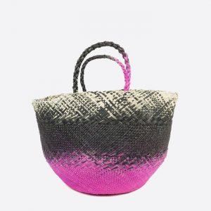 M Basket/Capazo Black & Fuchsia