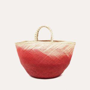 M Basket/Capazo Orange & Beige
