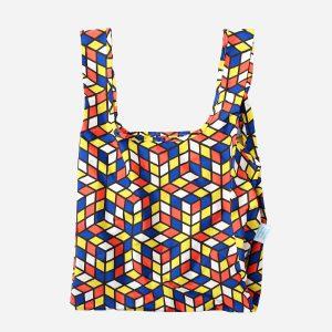 Cubes Recycled Plastic Medium Shopper