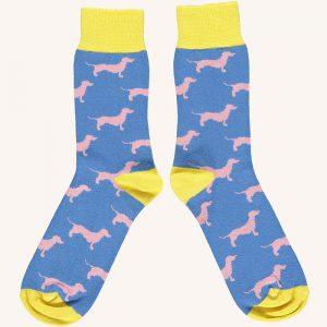 Cotton Sausage Dog Ankle Socks