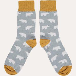 Cotton Polar Bear Ankle Socks