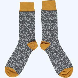 Cotton Leopard Ankle Socks