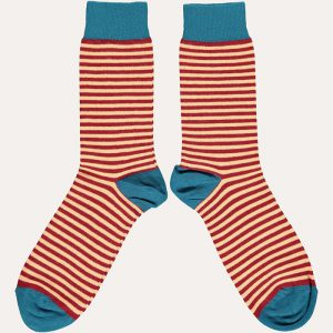 Cotton Fine Stripe Ankle Socks