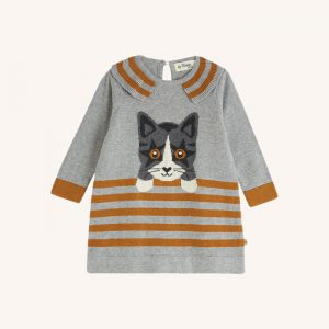 Darling Knitted Cat Dress Grey